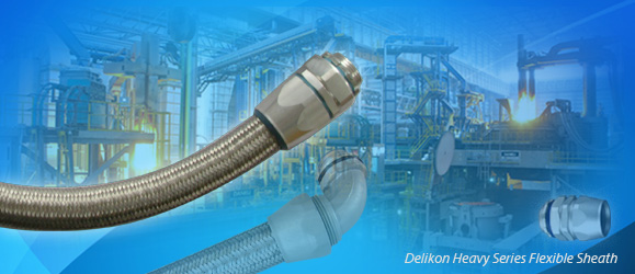 HEAVY SERIE over Braided Flexible metal Conduit conduit fittings for metal & chemical industry equipment wirings