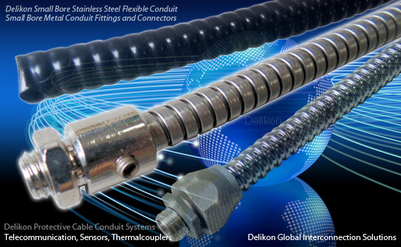 Flexible Steel Cable : Stainless steel flexible conduit at small bore