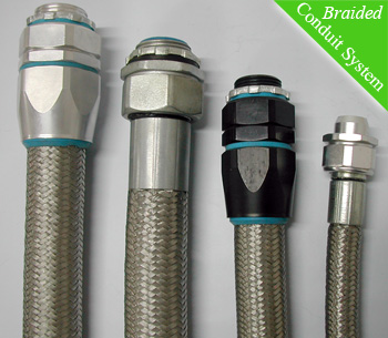 Delikon Heavy Series Over Braided Flexible Conduit And Fittings For