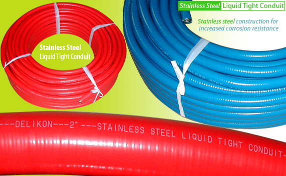 Stainless Steel Liquid Tight Conduit is best for use with stainless steel liquid tight fittings