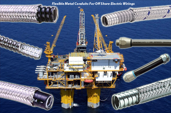 Flexible Metal Conduits For Off Shore & Heavy Industry Electrical Wirings